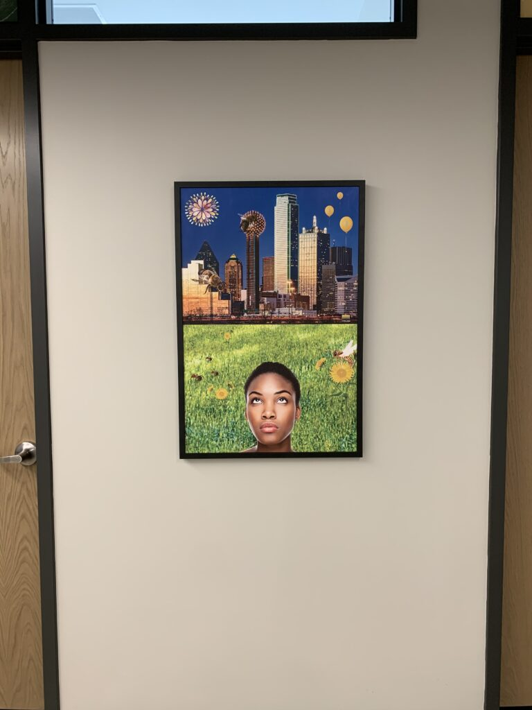 Artwork adorns the wall at the Fannie C. Harris Youth Center